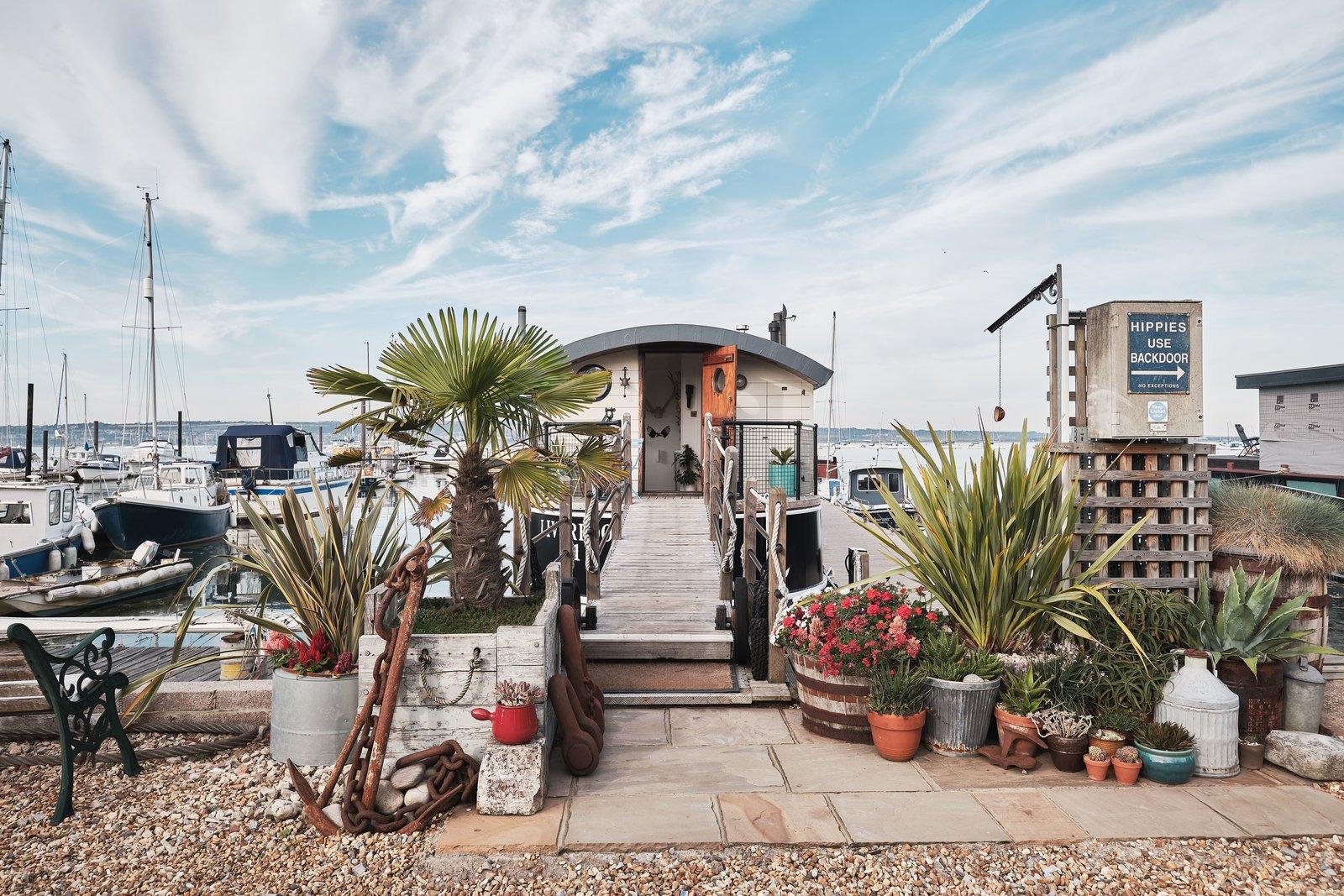 Gosport double-decker houseboat exterior