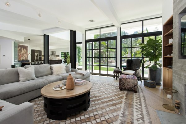Tucked away in the rustic-luxe area of Mandeville Canyon, the 3,164-square-foot home offers ample privacy without sacrificing a convenient commute to Los Angeles.