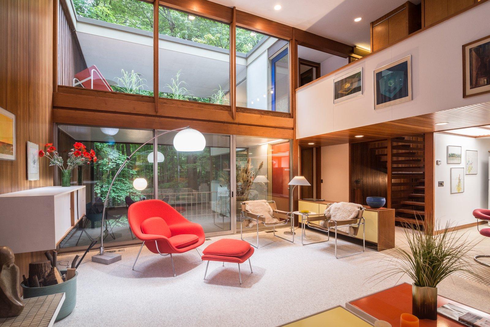 Balogh House by Tivadar Balogh living room