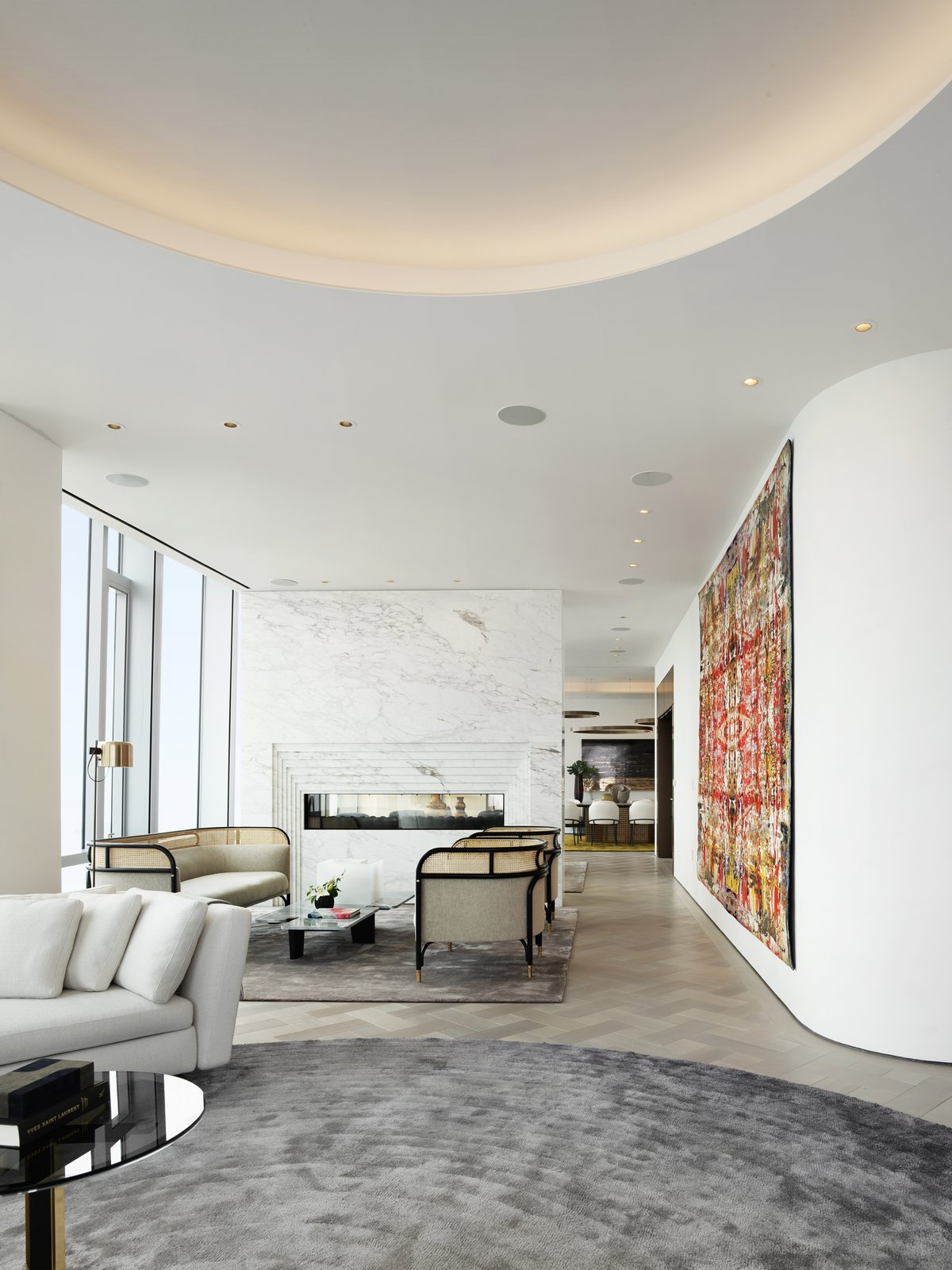 Grand Penthouse 181 Fremont Street MASS Beverly living room