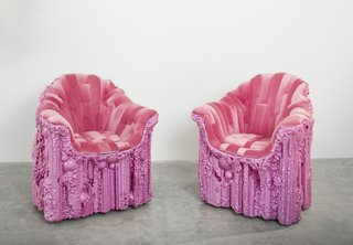 Designer Chris Schanck is perhaps best known for his <i>Alufoil</i> series, wherein he sculpts discarded materials like foam, covers them with candy-wrapper aluminum foil, and seals them with resin.