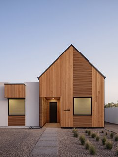Hemlock cladding covers the front of Eric and Sondra McVeigh's home in Phoenix.
