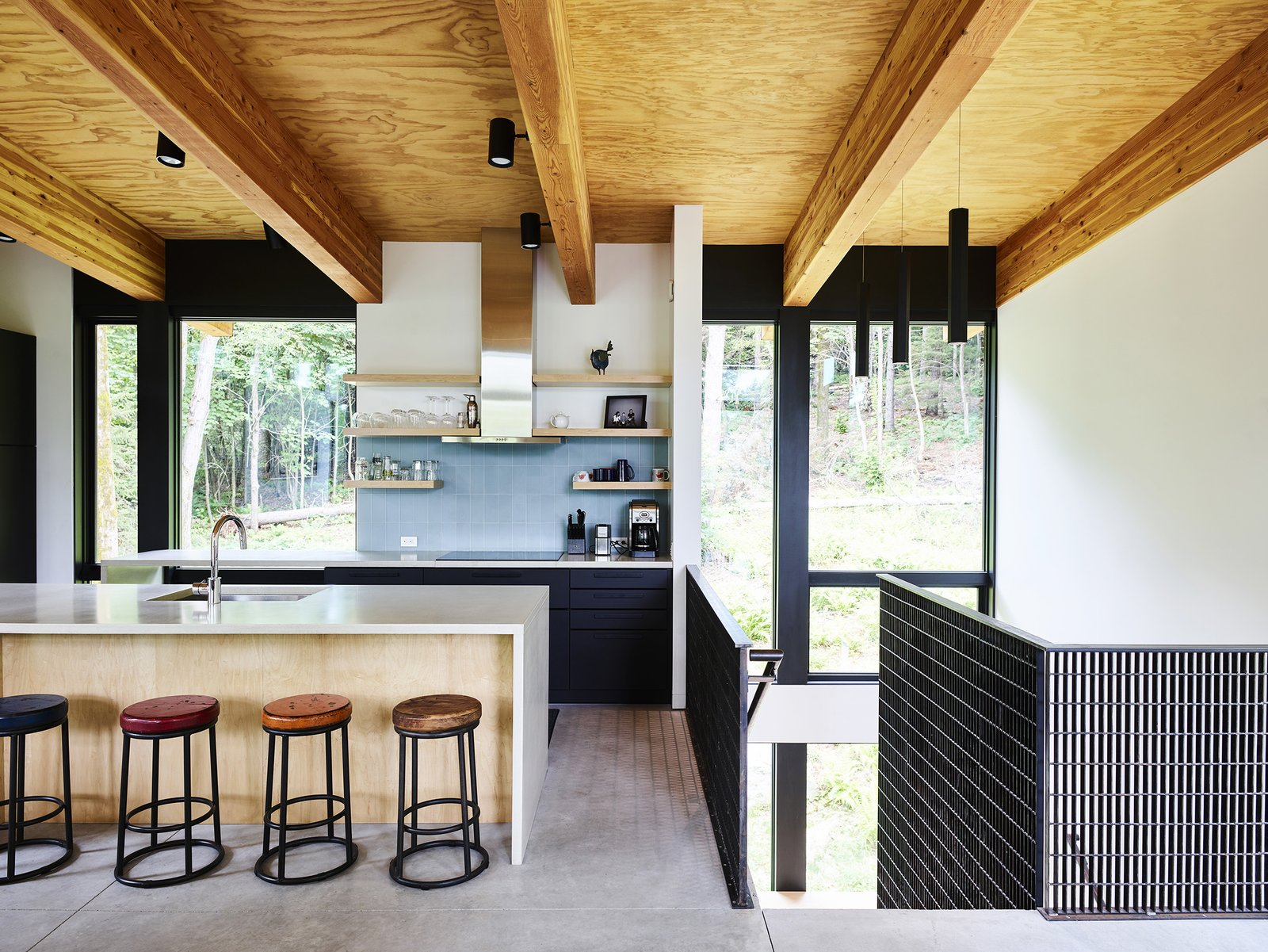 Photo 1 Of 5040 In Kitchen Photos From This Cor Ten Steel Cabin Is A Woodland Escape For The Generations Dwell