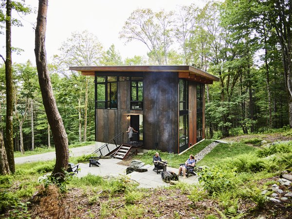 This Cor-Ten Steel Cabin Is a Woodland Escape for the Generations