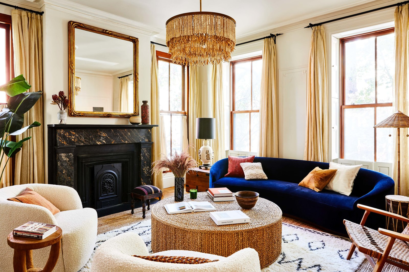 Norah Jones Cobble Hill townhouse real estate living room