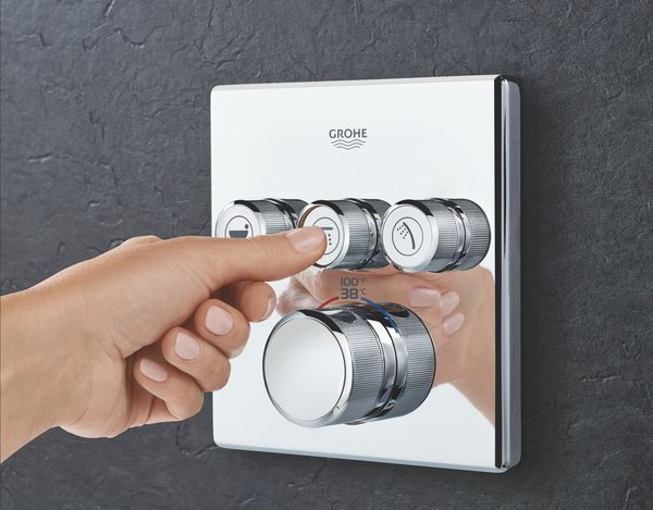 """""""The beauty of the SmartControl is its simplicity. I love how the design fits  everything you need into one place. Once you select your ideal temperature with the thermostat dial,  it takes just a quick push of a button to begin and a turn to adjust the volume—that's it."""""""