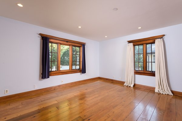 A peek inside one of the home's four spacious bedrooms.