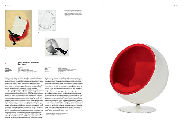 Eero Aarnio's 1963 Ball Chair experimented with plastic—a material that allowed makers of the era to explore new colors, forms, and production methods.