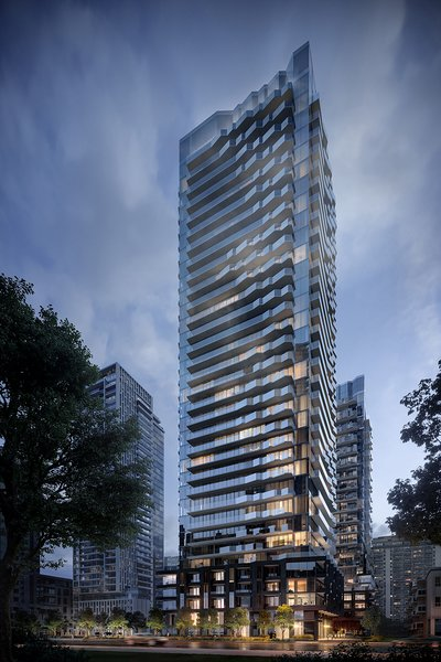 The two towers will have 751 condominium suites ranging from studios to three bedrooms. Pricing for the apartments starts at $400,000 and they go on sale early 2020.