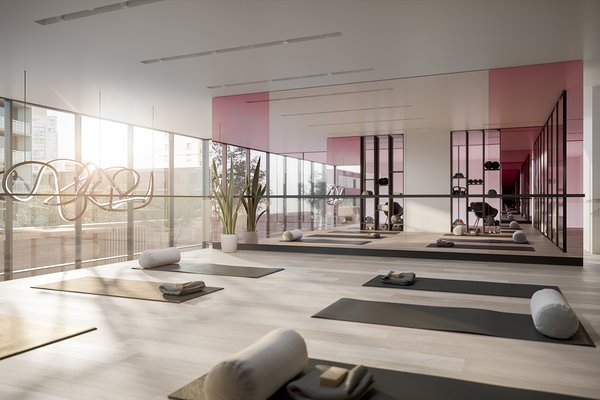 A gym and yoga studio are just a couple of the amenities provided to owners.
