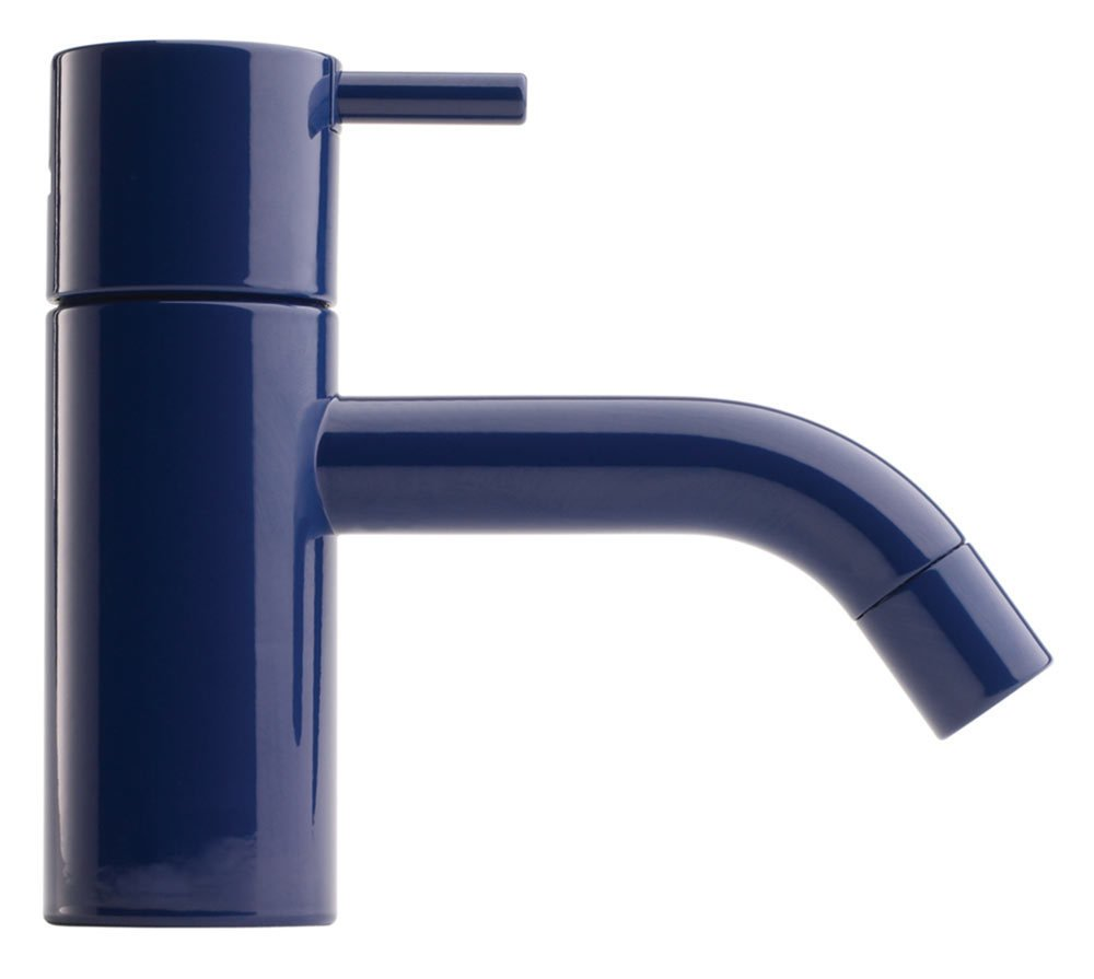 Vola's HV1 faucet in dark blue.  Photo 3 of 7 in Trend Report: Colors of 2020