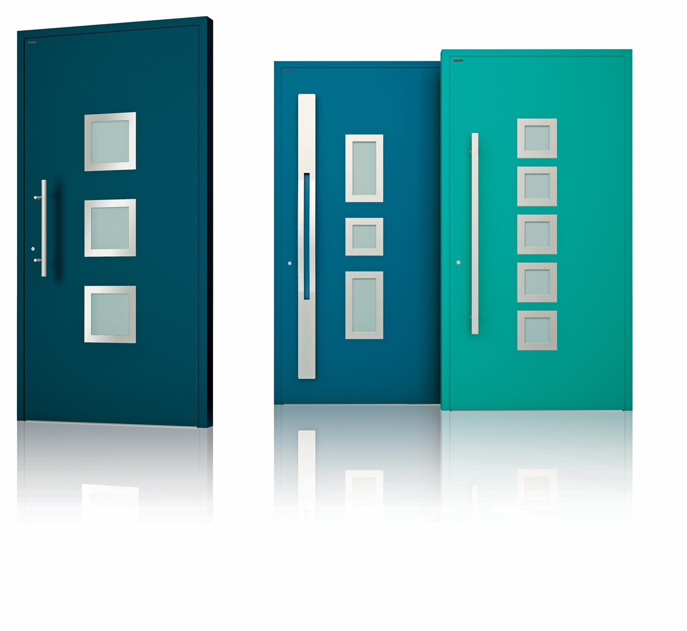Wisniowski's Deco doors are aluminum external doors that come in neutral or vibrant RAL powder-coat colors.  Photo 7 of 7 in Trend Report: Colors of 2020
