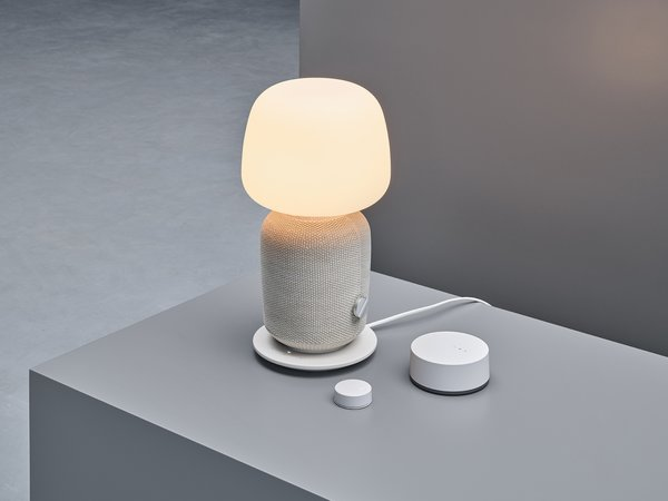 The SYMFONISK WiFi speaker by IKEA and Sonos is part of the Trådfri line—what is now known as Home Smart. The device doubles as a table lamp, and it can be automated or controlled with an app to accommodate moods or certain times of day. With IKEA's scale, customers can own a smart device with a Sonos speaker at an affordable price point.