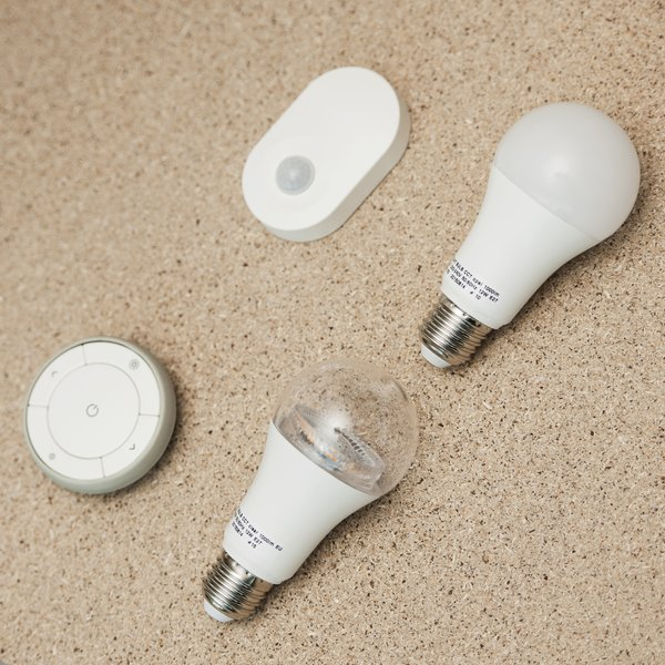 These lightbulbs and switches are prototypes from IKEA's Home Smart line that allow for customizable and programmable lighting.