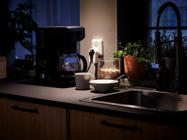 A Home Smart dimmer kit comes with an array of functionality—you can change the lighting in your home from cool to warm, dim the bulbs, or turn them on or off.