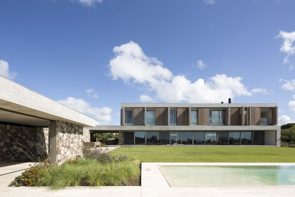 The Island House is set on a 1.2-acre plot of land in Nordelta, about 25 miles outside of Buenos Aires, Argentina.