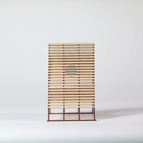 Sitting Structure #8 model side elevation