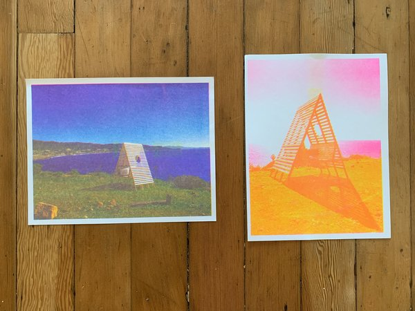 Sitting Structure #8 risograph prints
