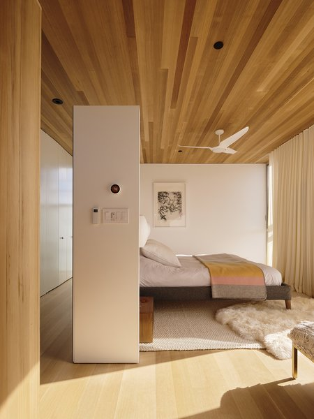 A Parallel Bed in the master bedroom is by Jeffrey Bernett, Nicholas Dodziuk, and Piotr Woronkowicz for Design Within Reach.