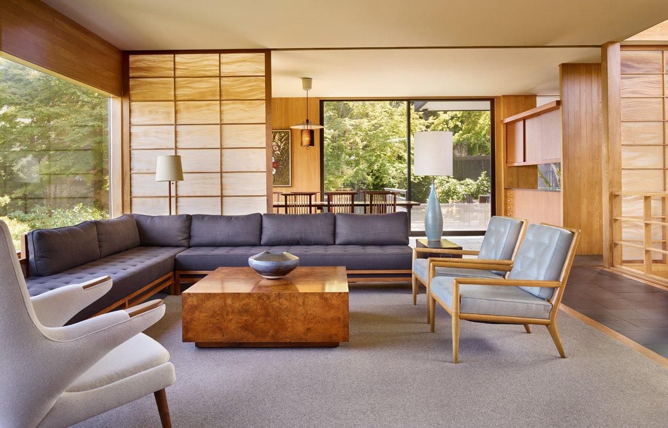 Atlas of Midcentury Modern Houses Dominic Bradbury Dowell Residence Kirk living room