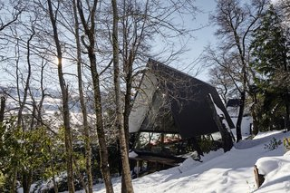 Two Prefab Prisms Form an A-Frame Retreat in the Chilean Wilderness