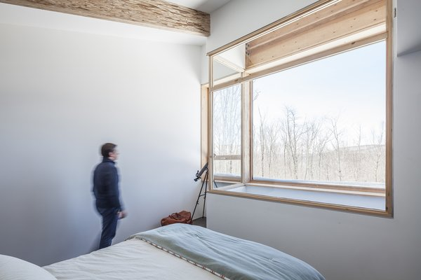 The master bedroom offers a bird's-eye view  of Wildcat Mountain to the west.