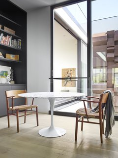 A breakfast room also benefits from natural light.