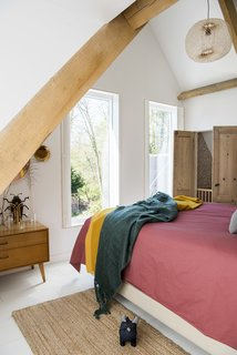 A peek at the master bedroom, with Cato's nursery located steps away.