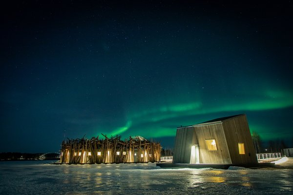 To catch the northern lights, book your stay between August and March.