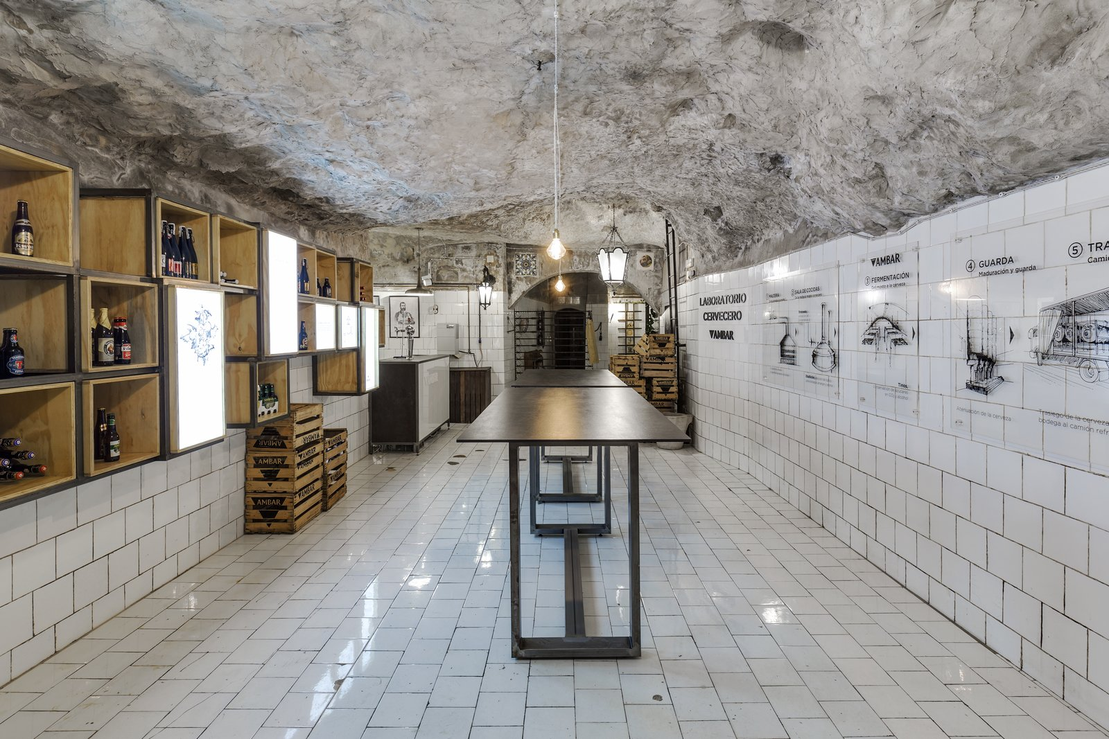 This Culinary School in Spain Features a Labyrinthine Bunker-Turned-Bar