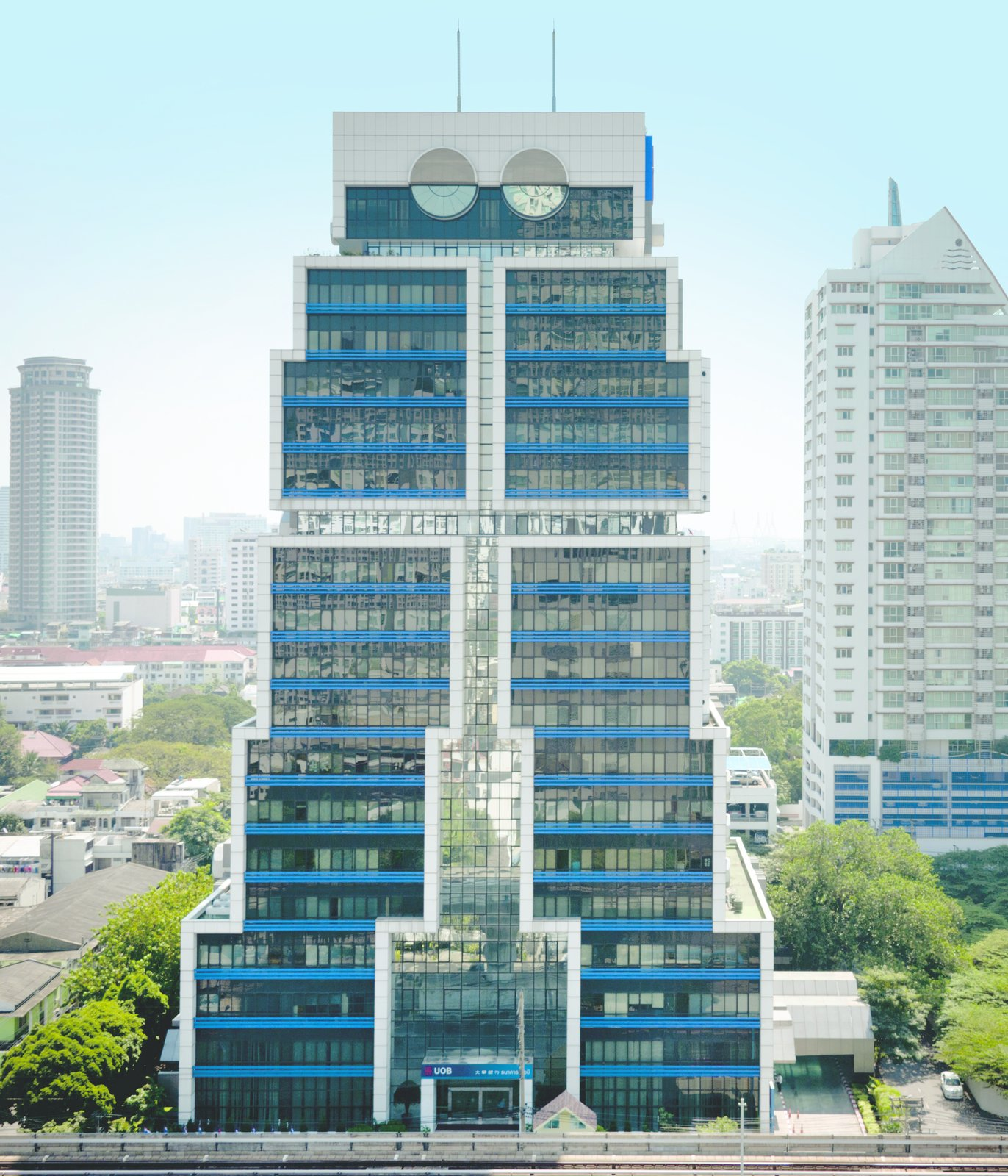 "Sumet Jumsai: Robot Building, Bangkok, Thailand, 1986.  Photo 4 of 8 in 8 Postmodern Buildings That Proclaim ""Less Is a Bore"""