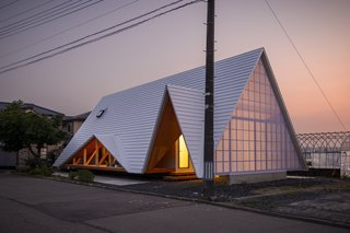 An Airy A-Frame Home Connects a Community in Rural Japan