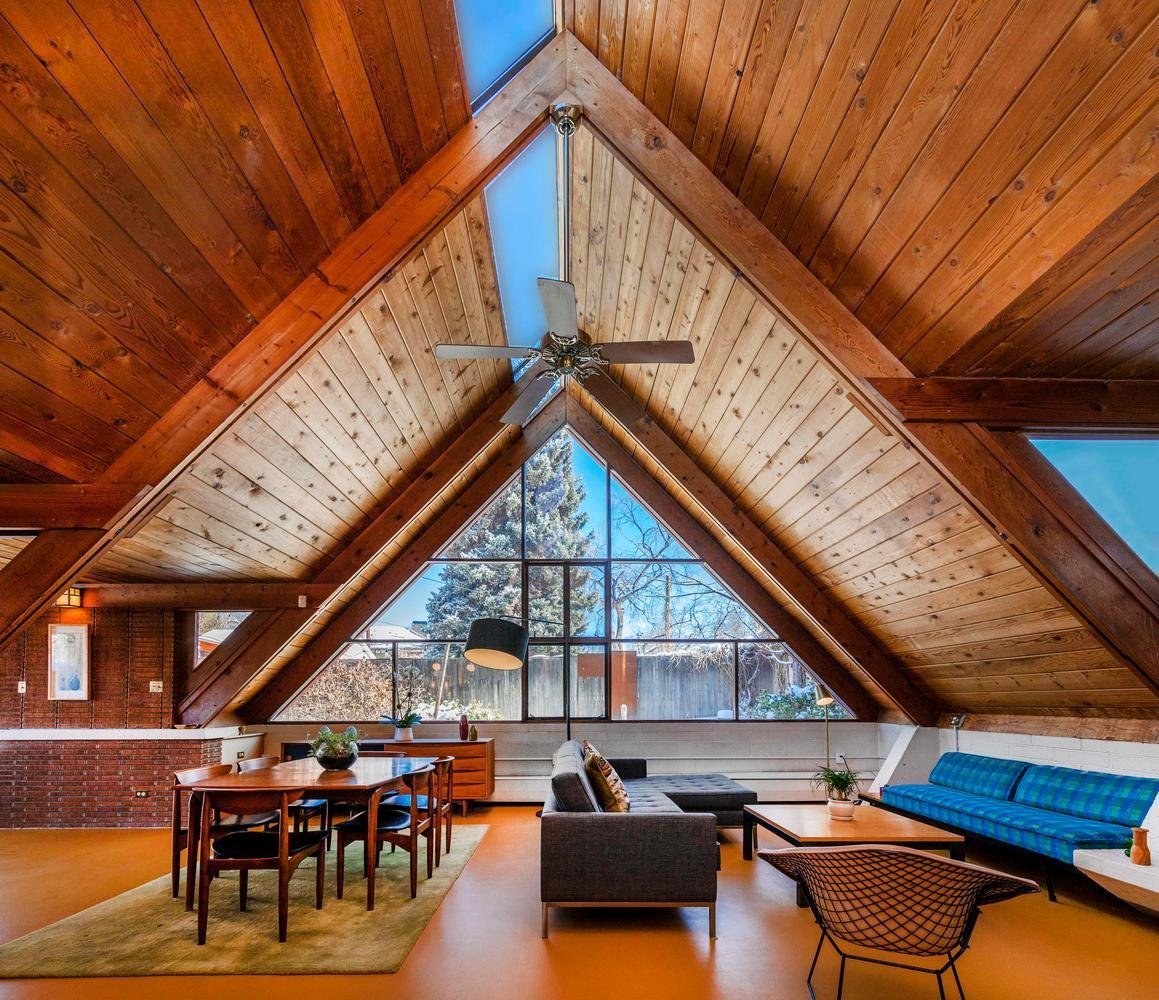 This Midcentury A-Frame in Denver Offers Serious Storybook Appeal for $865K
