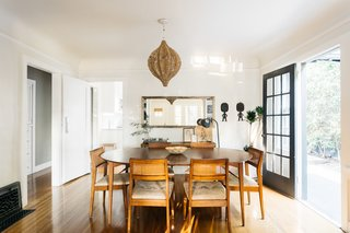 Just off of the kitchen and living room, a bright and airy dining area provides direct access to the outdoors.