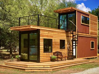 This Texas Company Is Turning Shipping Containers Into Double Decker Tiny Homes Dwell