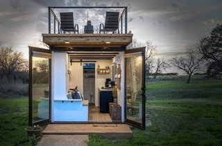 This Texas Company Is Turning Shipping Containers Into Double-Decker Tiny Homes