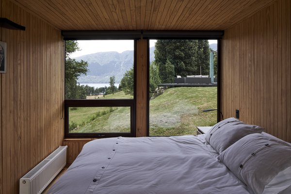 Views of Lake Colico are captured by the windows in the lower level bedrooms, where the Del Fierro's sons sleep.