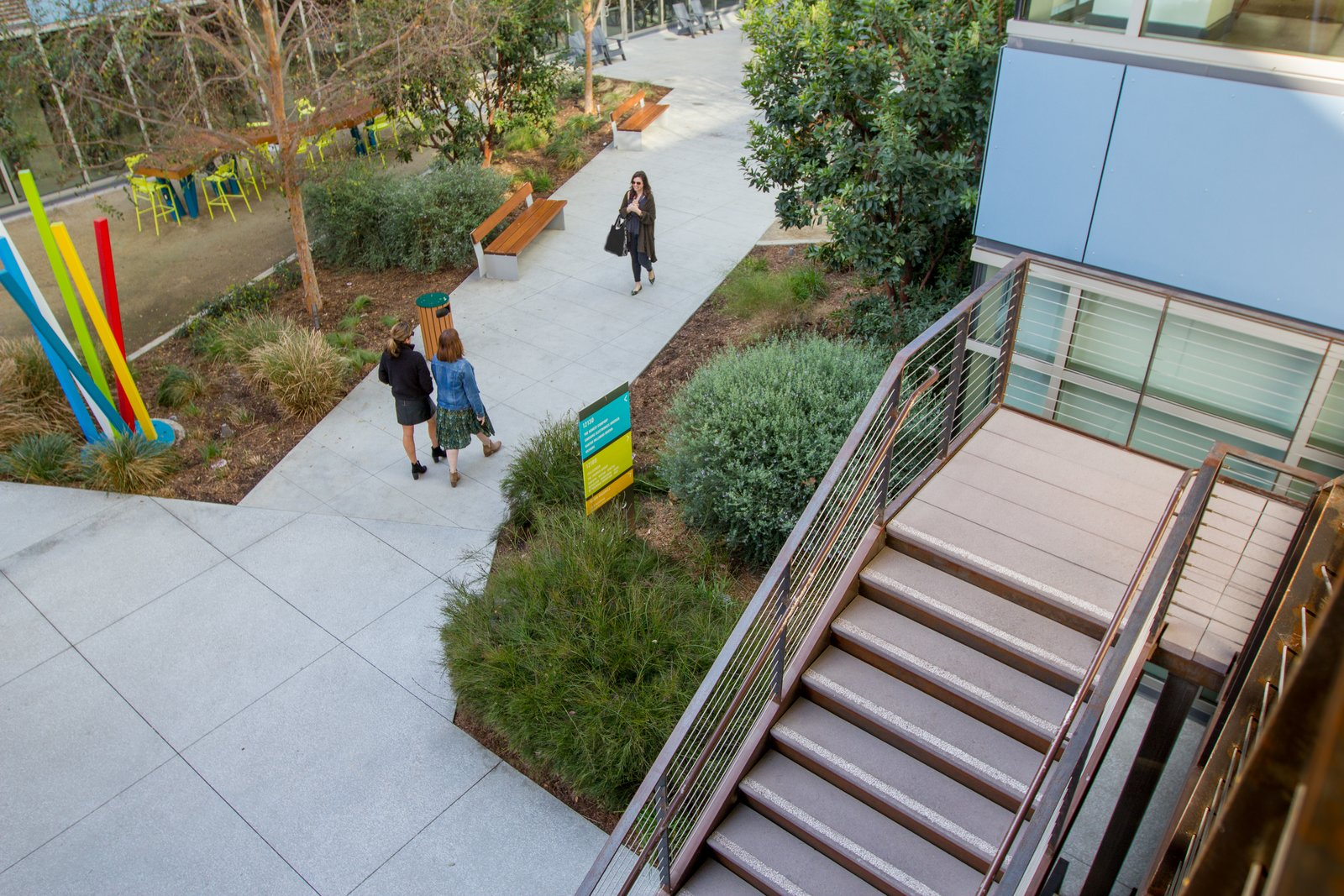 Image of: Precast Concrete Stair Treads Transform A Hip Outdoor Workspace In L A Dwell