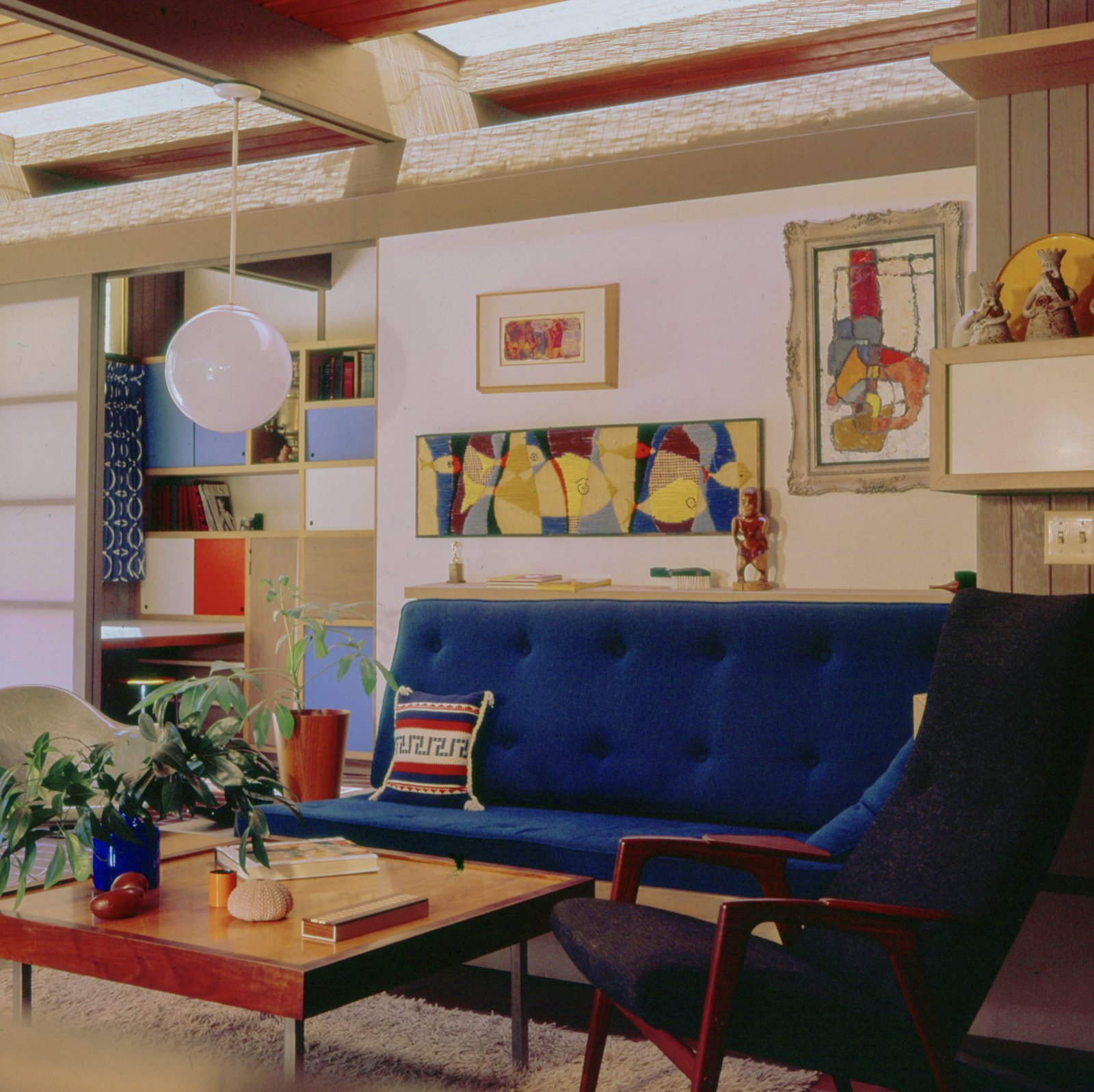 An image of the home during Malinoff's years in the home.  Photo 7 of 17 in A Dapper Midcentury Under the Hollywood Sign Lists for $1.65M