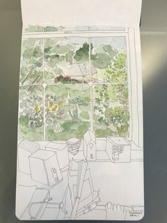 As part of their morning routine, Bunch Design's Bo Sundius and Hisako Ichiki enjoy sketching and watercoloring.
