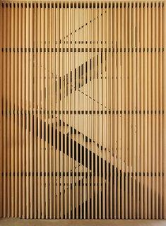 The cedars slats filter natural light.