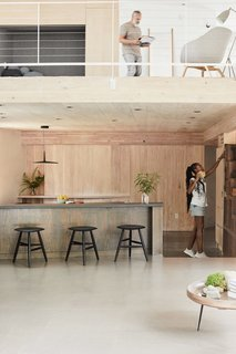 The Japanese pantry in the kitchen is by Shibui Kotto.