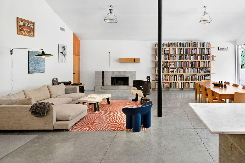 Liza Lou Topanga art compound living room