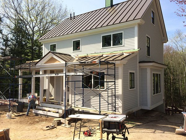 A project by Michael Maines in New England adheres to Passive House principles and points agreed upon by local building experts.