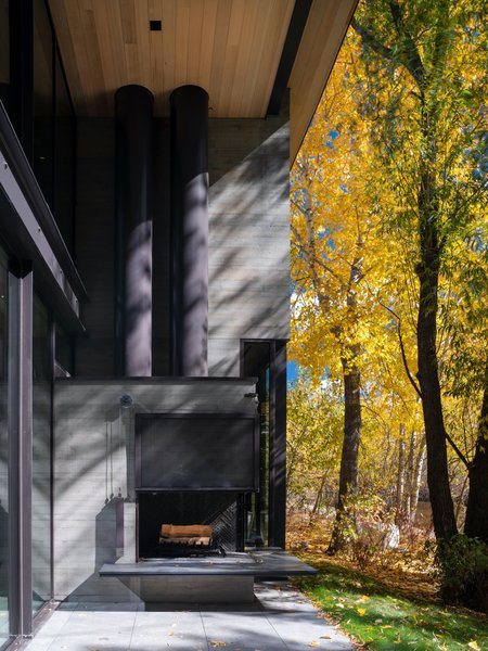 Durable, long-lasting exterior materials of concrete and weathering steel were chosen to withstand the climate extremes in Ketchum, Idaho, and require minimal maintenance.
