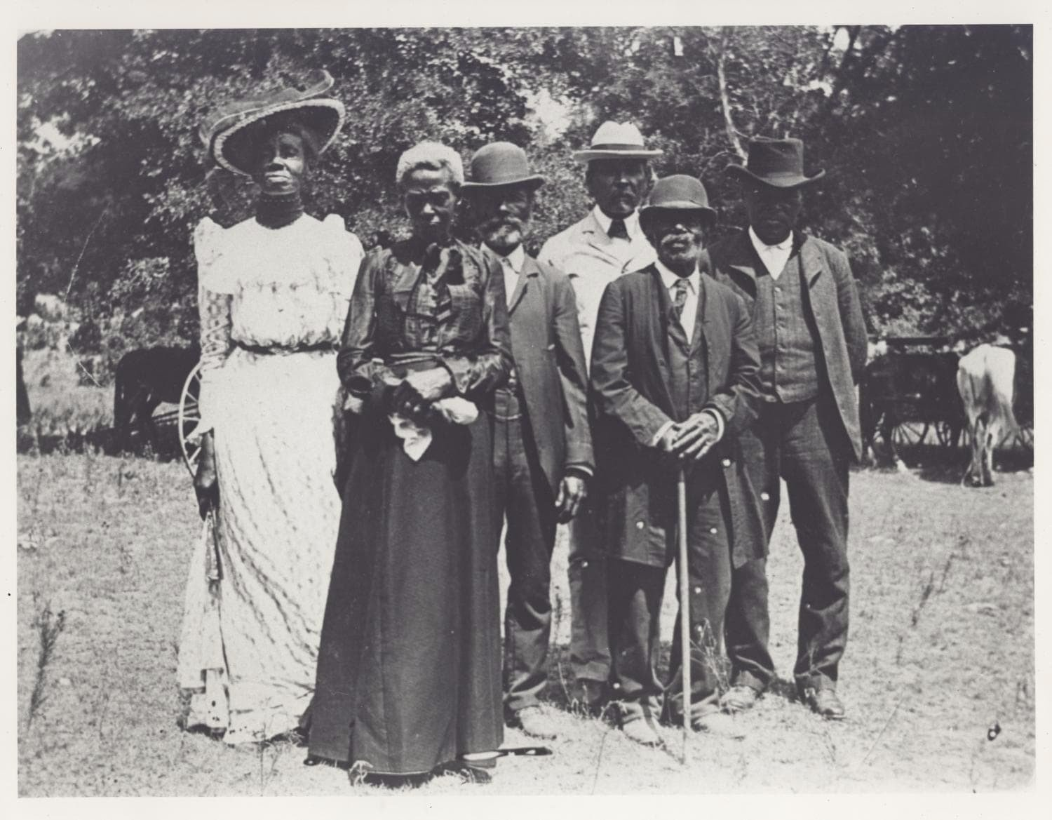 A group of Texans gather on June 19th, 1900, to celebrate Juneteenth.  Photo 1 of 5 in Here's What You Need to Know About the Juneteenth Flag