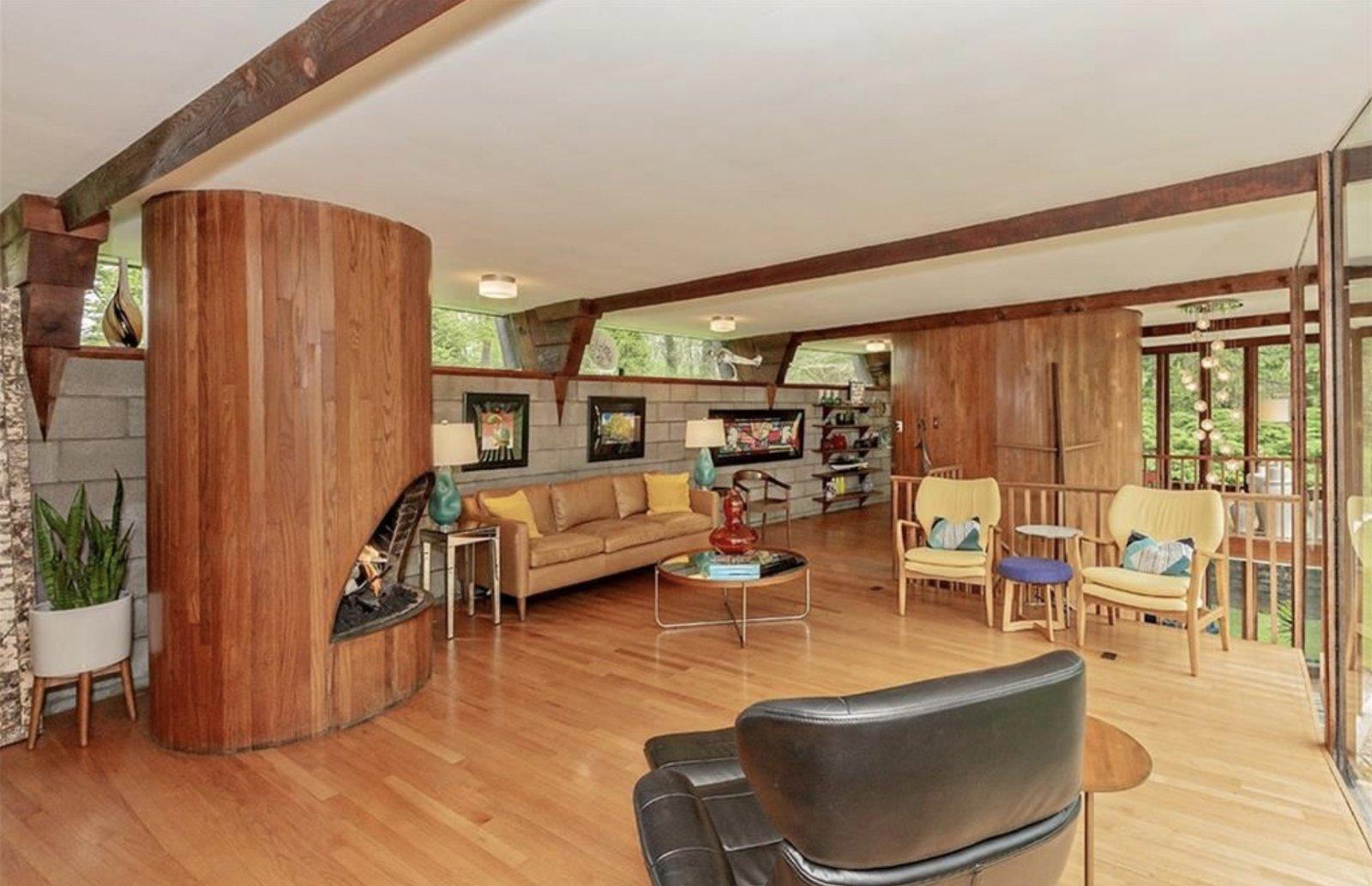 Glass House John Terence Kelly living room