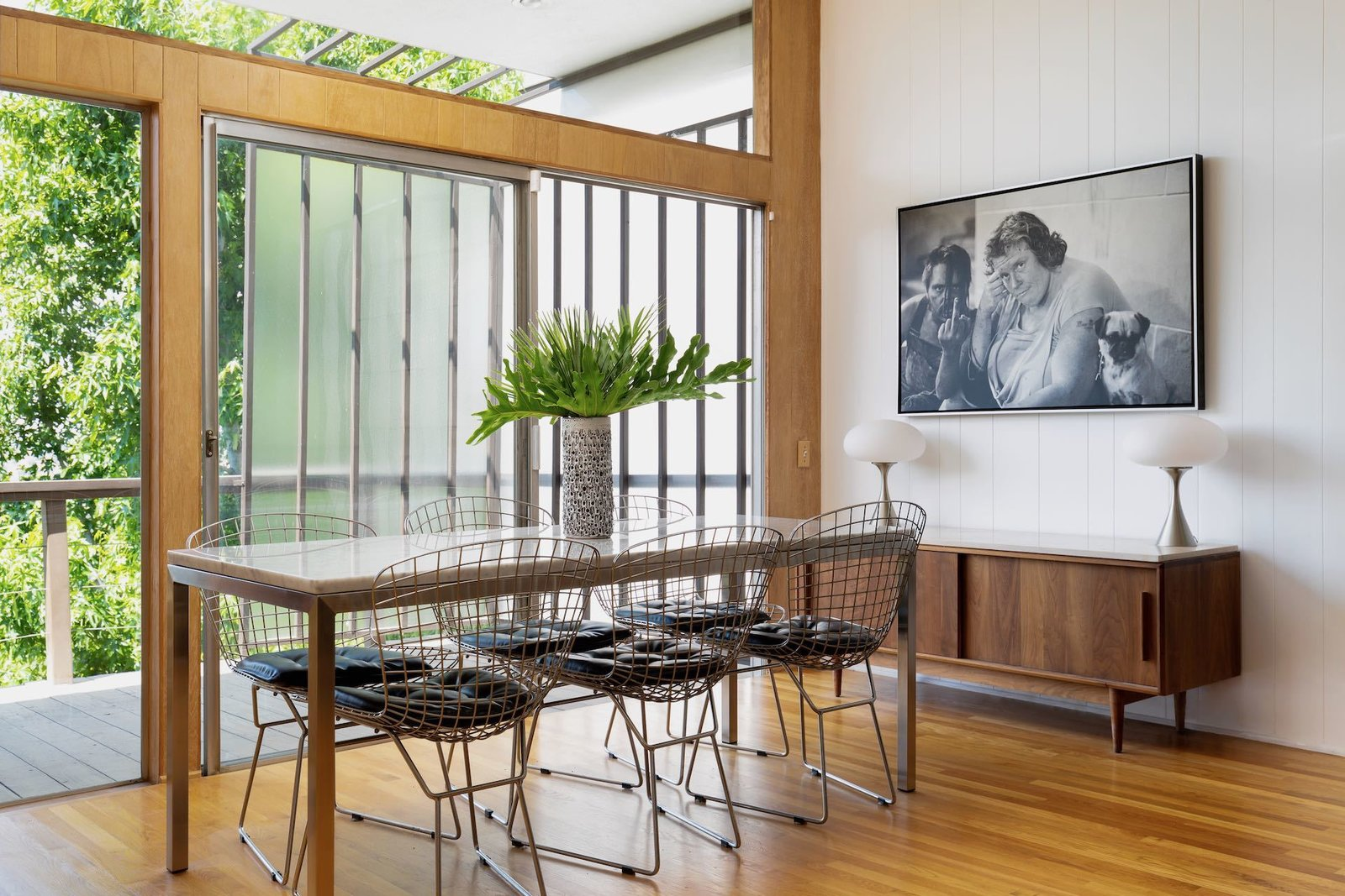 Laurel Canyon midcentury Los Angeles real estate dining room