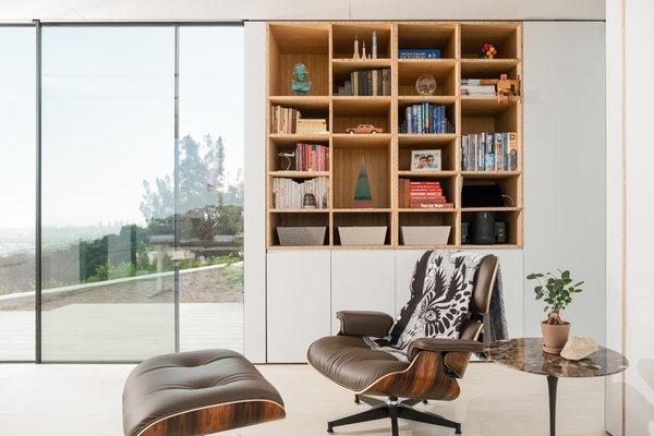 Custom-milled built-ins provide ample storage.