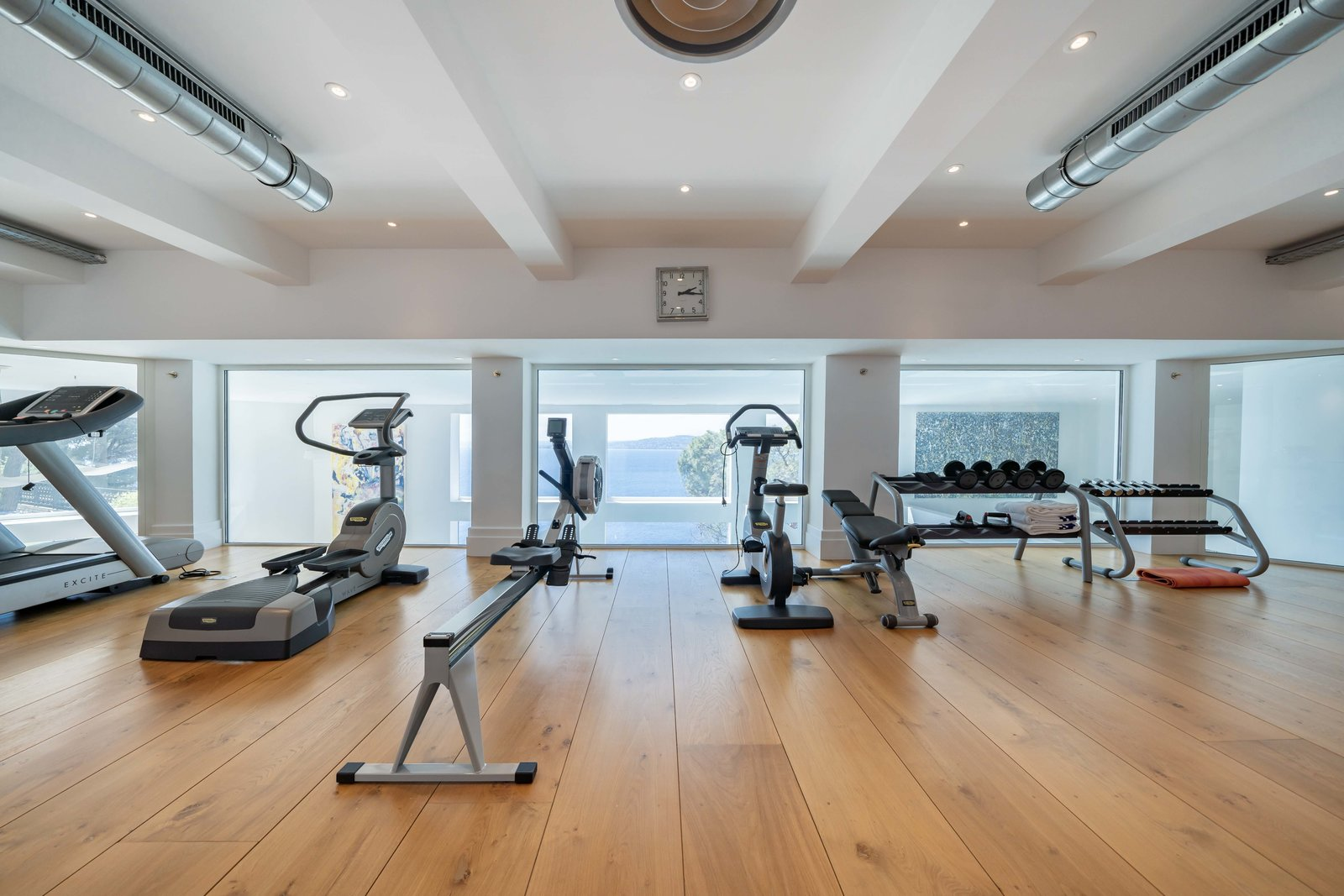 Shed & Studio A fully equipped gym and fitness room awaits on the lower level.  Photo 7 of 11 in Scottish Actor Sean Connery's Former Seaside Villa Looks Like the Perfect Place to Quarantine